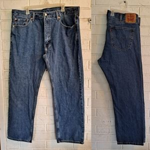 Levi's 505 relaxed fit medium wash blue jeans